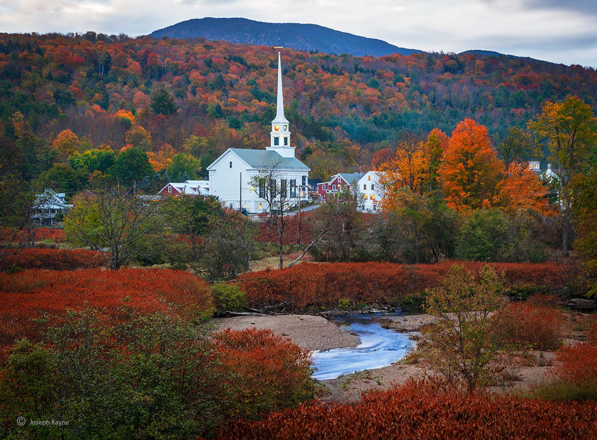 Small New England Village,Autumn