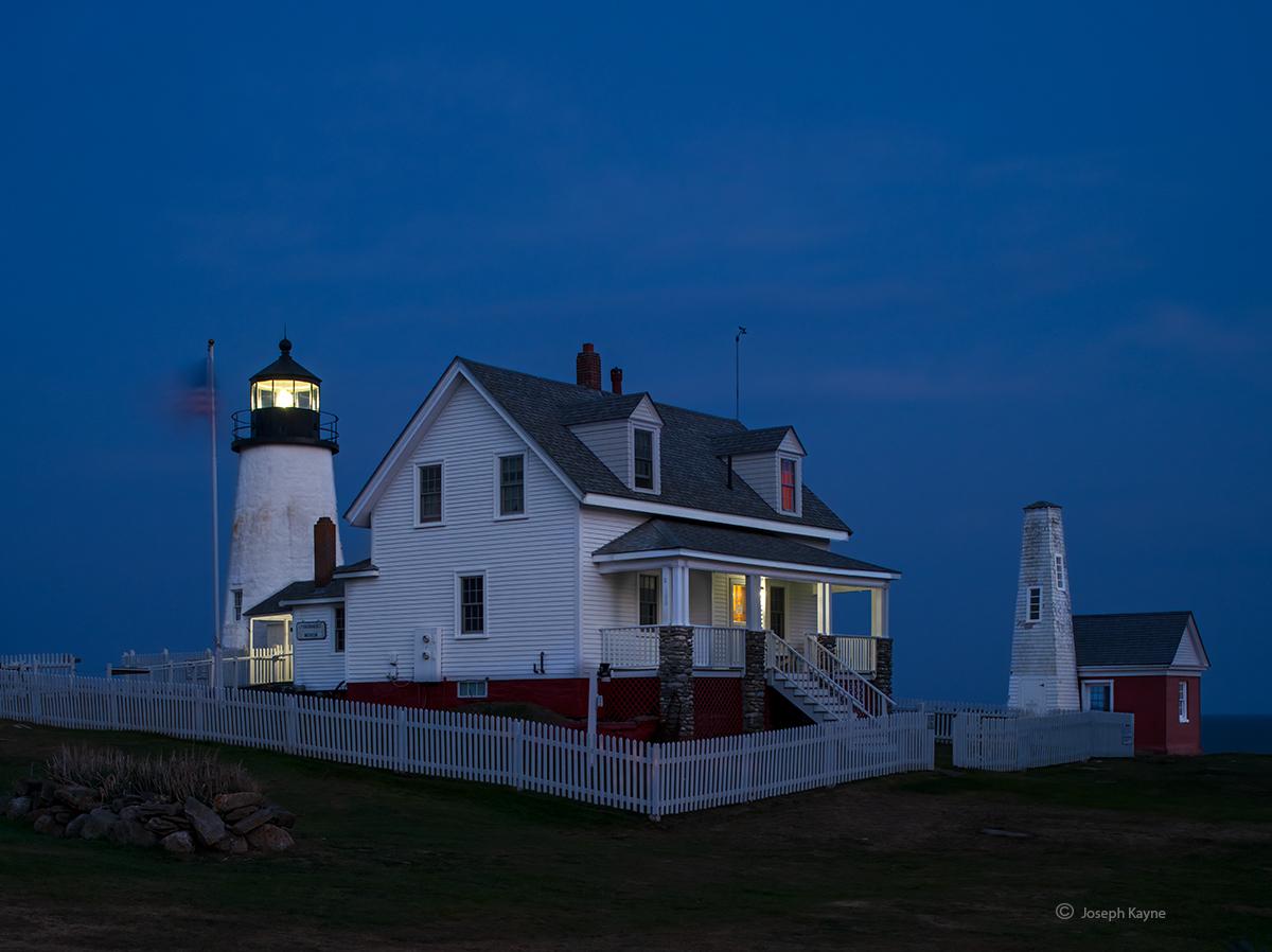Maine Lighthouse At Night