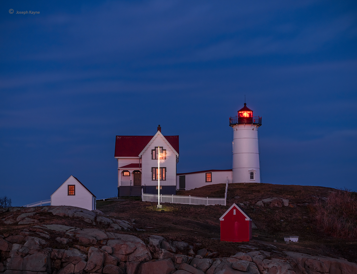 Lighthouse At Night,Cape Neddick