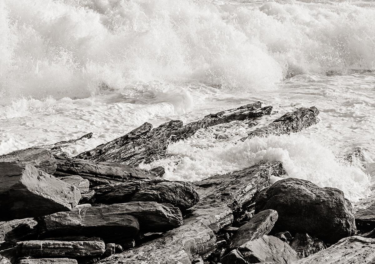 Atlantic Ocean Crashing Into Pemaquid Point
